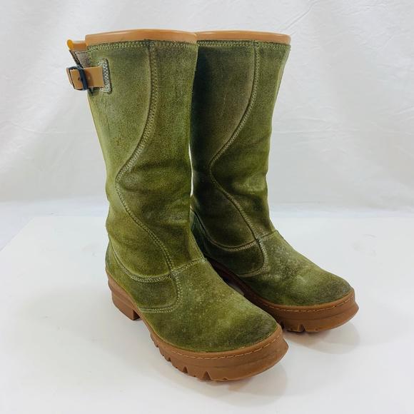 Keen Shoes | Keen Green Suede Keendry